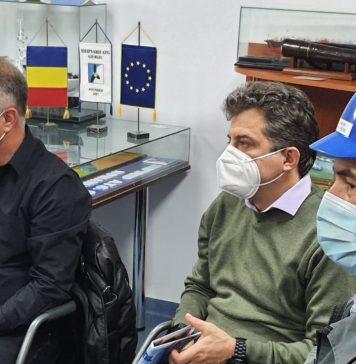 Primarul Adrian Anghelescu, adresandu-se delegatilor bulgari sositi la Shipyard ATG Giurgiu (VIDEO cu text de traducere...)